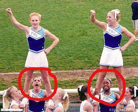 Cheerleaders with no panties on