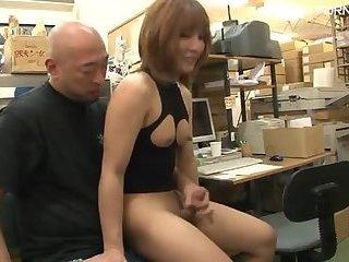 Public bareback threesome in shop mobile porn