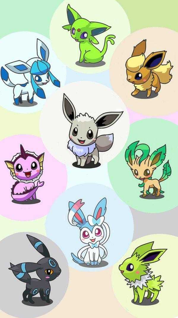 Pokemon shiny eevee jolteon flareon vaporeon espeon